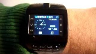 Mobil telefon i armbånds uret
