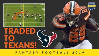 Duke Johnson's Trade To Texans Makes A Big Fantasy Football Ranks Splash