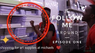 Follow me around shopping for art supplies at Michaels store