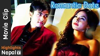 Romantic Date Night   DREAMS Nepali Movie Clip   Anmol K.C, Samragyee Rajya Laxmi Shah