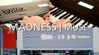 Muse | Madness guitar solo cover on keyboard | Backing Track included!