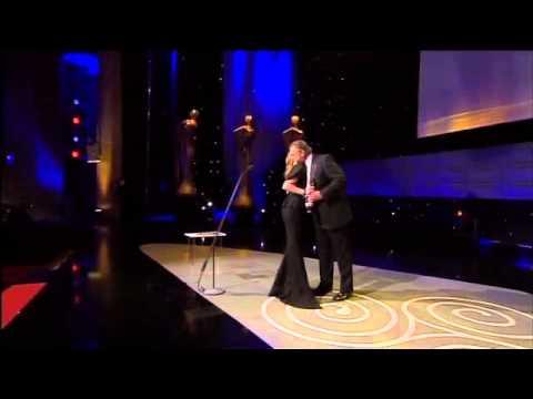 Saoirse Ronan, IFTA Winner 2011, Supporting Actress Film for The Way Back, Brendan Gleeson presents