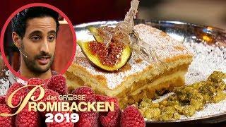 Sami Slimani backt einen japanischen Käsekuchen | Verkostung | Das große Promibacken 2019 | SAT.1 TV