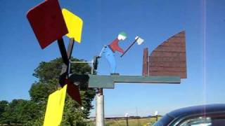 Wood Chopping Man Whirligig