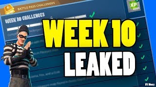 FORTNITE WEEK 10 CHALLENGES LEAKED! (Fortnite: Battle Royale) [SEASON 4]