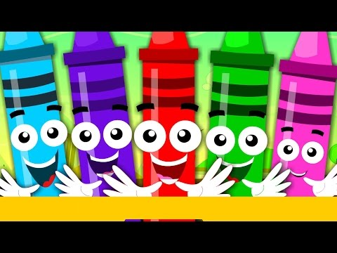 Crayons Color Song   Learn Colours   Nursery Rhymes For Children