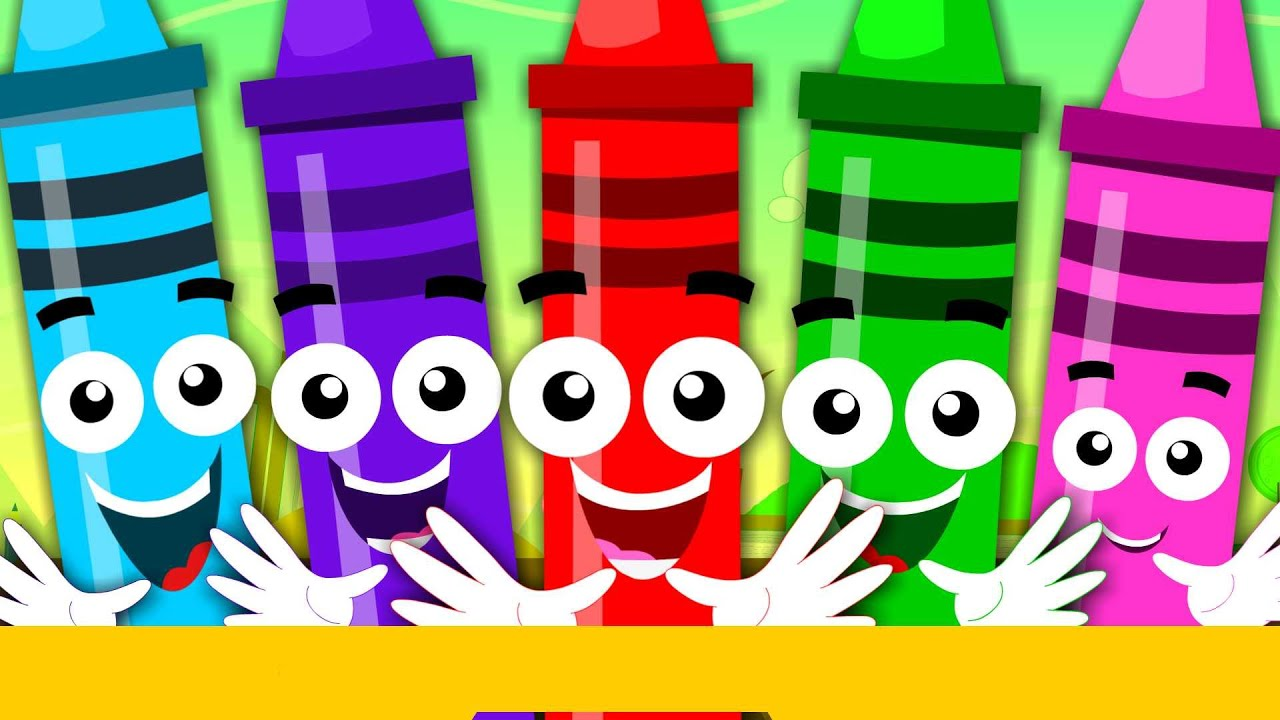 Crayons Color Song | Learn Colours | Nursery Rhymes For Children ...