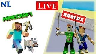Minecraft Nederlands & Roblox Nederlands Live Stream met Albert