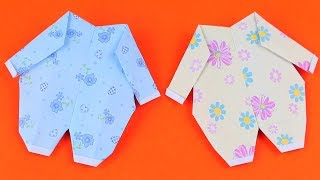 How To Make an Easy Origami Baby Clothes | 5-Minute Crafts | Origami Tutorial
