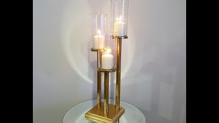 Dollar Tree Vase Triple Candle Lamp DIY for $5