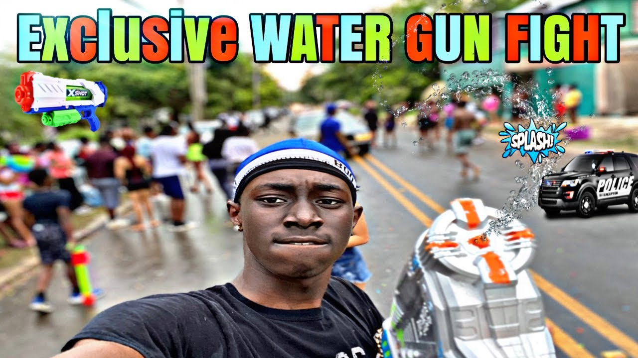 EXCLUSIVE WATER GUN FIGHT VS OTHER CITYS !!!