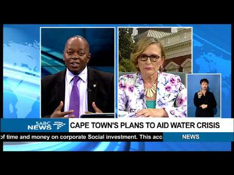 Cape Town's plan to aid water crisis: Helen Zille