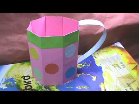 How to make Paper coffee mug | DIY cup Origami Tutorial | make easy