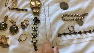Yard sale haul, thrift haul, estate sale haul, jewelry haul (October 24,2018)