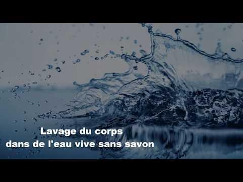 Lavage du corps à l'eau vive sans savon