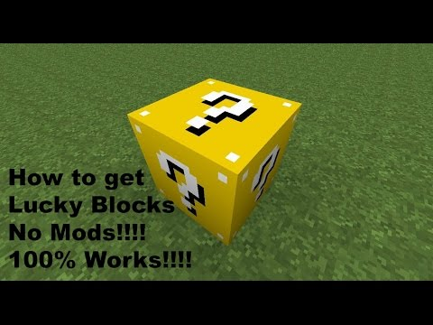 Minecraft - How To Get Lucky Blocks No Mods Only One Command!