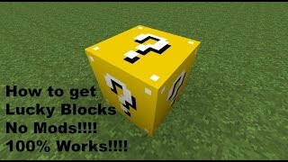 So today i showed you guys how to get lucky block in minecraft without mods. ok those are the steps!!!! hey before dong this will need to...