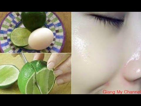 Mẹo Làm Đẹp | Phương Pháp Giúp Trắng Da Mặt Siêu Tốc Bằng Trứng Gà Và Chanh | Giang My Channel