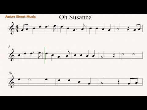 Harmonica oh susanna harmonica tabs : Oh Susanna- Guitar sheet music - YouTube