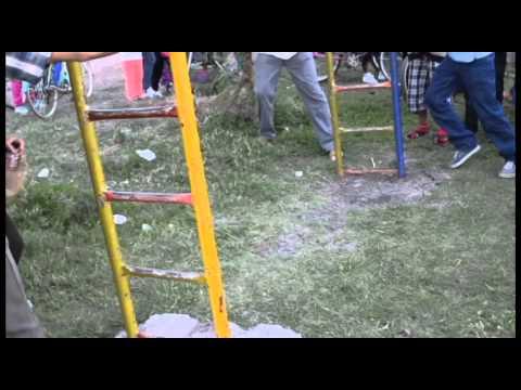 Jaral del Progreso Niña que cae de columpio