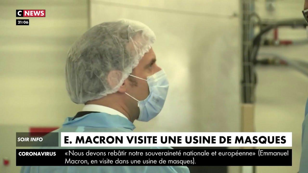 Emmanuel Macron promet l'indépendance du pays dans la production de masques