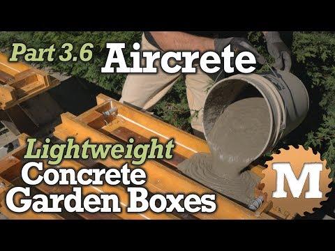 Aircrete Garden Boxes PART 3.6 - Air Crete Lightweight Foam Concrete from Portland Cement