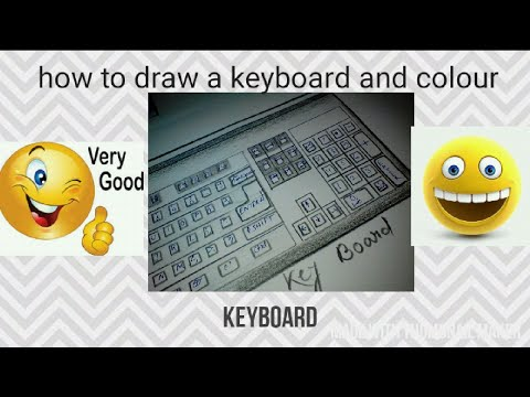 How To Draw A Keyboard Step By Step For Kids