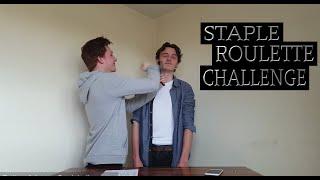 STAPLE GUN ROULETTE CHALLENGE *BLOOD ALERT* | AVJ Challenges