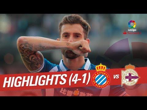 Resumen de RCD Espanyol vs RC Deportivo (4-1)