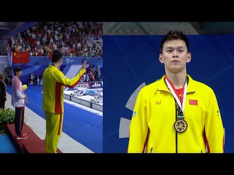 'One more time,' Chinese swimming star Sun Yang demands anthem replay at 2018 Asian Games