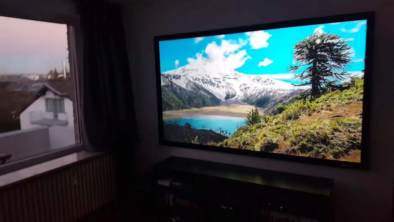 Elite Screens Sable Frame Cinegrey 3d Alr Clr Projection Screen Customer Testimonial Youtube