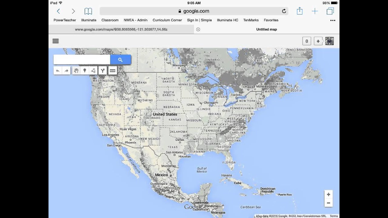 Make a topographic map using Google maps - YouTube