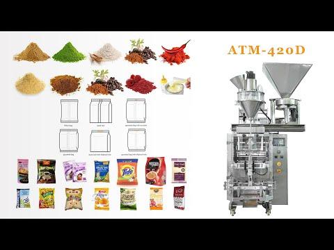 ATM-420D Automatic 100g 500g 1kg Bag Powder Corn Flour Packing Machine #Autompack
