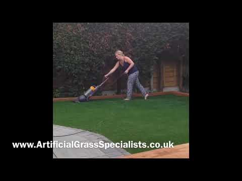 Artificial Grass Cleaning, Hoovering Artificial Grass