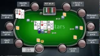 Раздача PokerStarter: Играл неправильно и всё равно победил