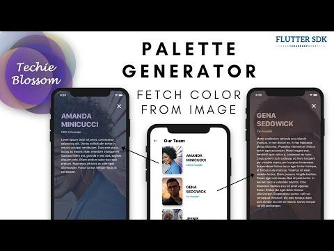 Palette Generator Implementation   Flutter SDK