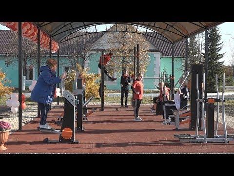 В Октябрьском появилась новая современная спортплощадка