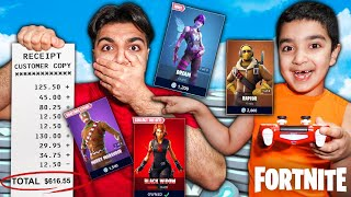 Letting My Little Brother Decide What Skins I Buy In FORTNITE! (SPENDING V-BUCKS CHALLENGE!)