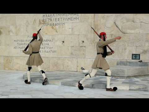 the changing of the guard ceremony @ Athens Syntagma Square