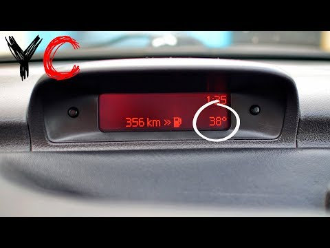 Замена датчик наружной температуры воздуха Пежо 307/Peugeot 307