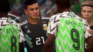 Argentina vs Nigeria mundial Russia 2018 fifa 18