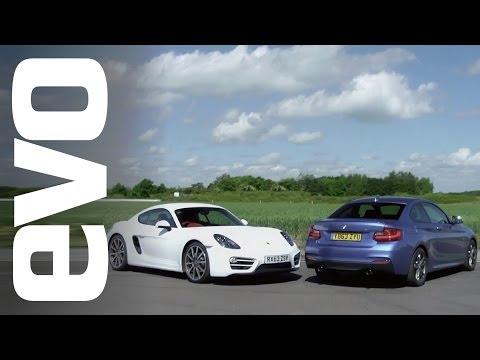 Porsche Cayman vs BMW M235i | evo TRACK BATTLE