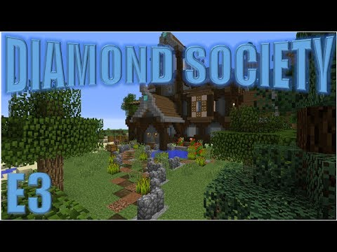 Minecraft: The Diamond Society E3 - Outside decorating!