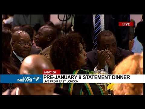 Cyril Ramaphosa addresses the ANC January 8 gala dinner