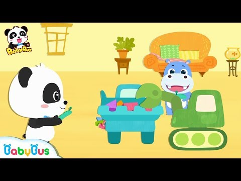 Oops! Baby Panda's Building Blocks are Falling down | Learn Shapes for Kids | BabyBus