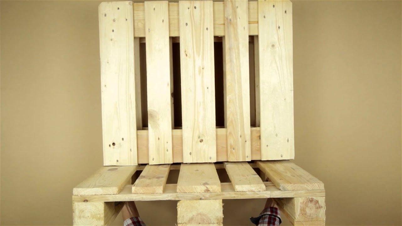 sofa und tisch aus paletten basteln youtube. Black Bedroom Furniture Sets. Home Design Ideas