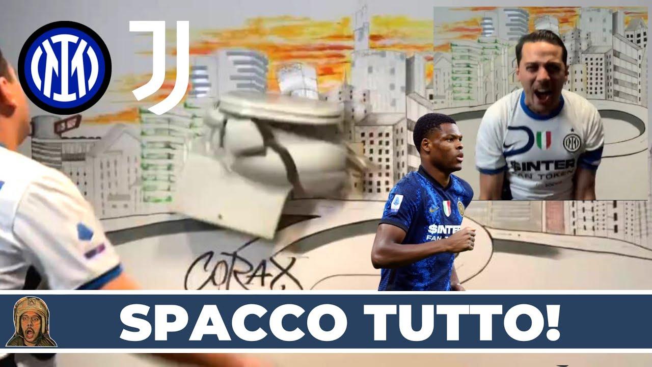 SPACCO IL WATER NEL MURO! DUMFRIES CHE CAXXO FAI! INTER-JUVE 1-1