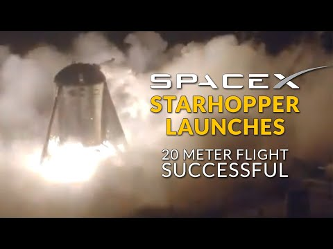 SpaceX Launches Experimental Starhopper