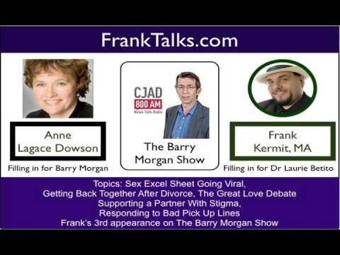 Anne Lagace Dowson and Frank Kermit on Barry Morgan Show