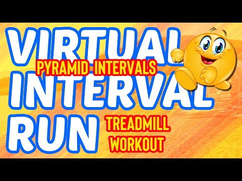 28 Minute Pyramid Intervals Virtual Run Treadmill Workout || Interval Training!